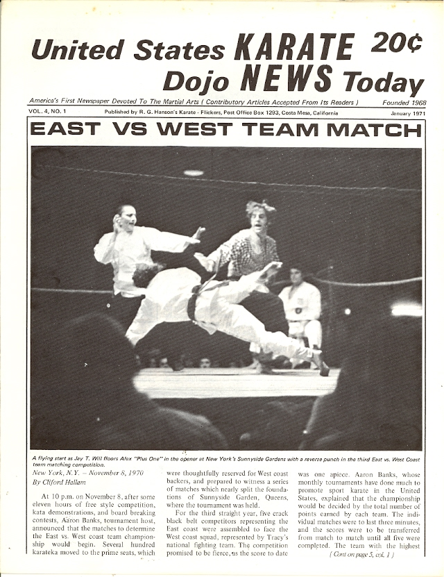 01/71 United States Karate Dojo News Today Newspaper